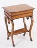 Sybord, empirestil, 1800-tal. bla. björk o mahogny.