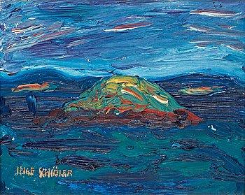 "117. Inge Schiöler, ""Solbelyst skär"" (Costal motif)."