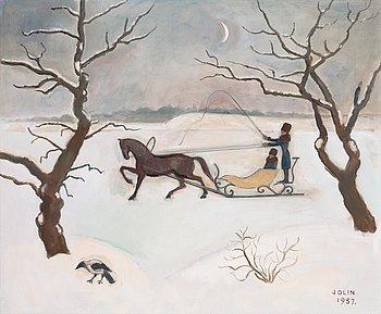 "110. Einar Jolin, ""Slädfärd"" (The sleigh)."