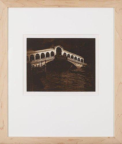 """Lennart olson, """"ponte di rialto, venedig"""", 1983."""