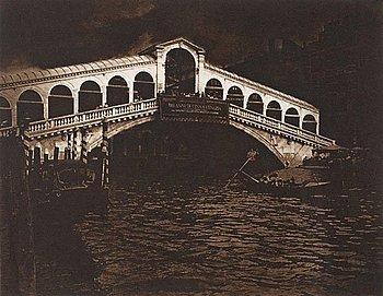 """69. LENNART OLSON, """"Ponte di Rialto, Venedig"""", 1983."""