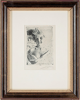 168. Anders Zorn, ANDERS ZORN, Softground etching, 1898, signed.