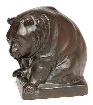 216. Carl Fagerberg, Seated bear.