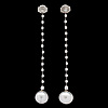 A pair of cultured south sea pearl and brilliant cut diamond earrings, tot. 0.60 cts