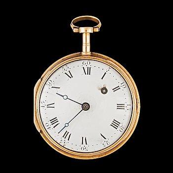 1428. FICKUR, André Hessen (Anders Bengtsson), spindelur, guld, omkr 1700/1800.