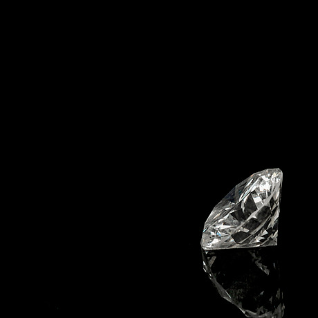A brilliant cut diamond, 0.75 cts.