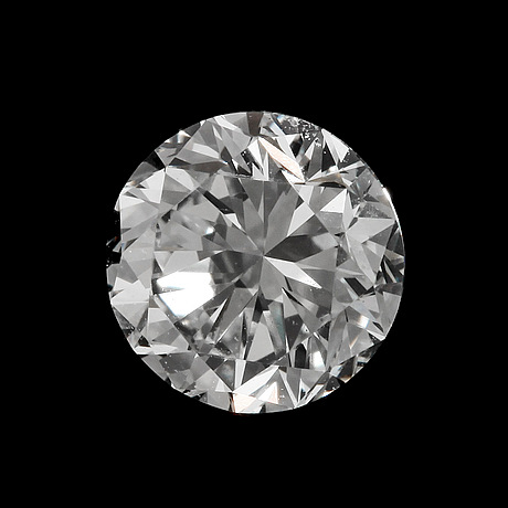 A brilliant cut diamond, loose. weight 1 ct.
