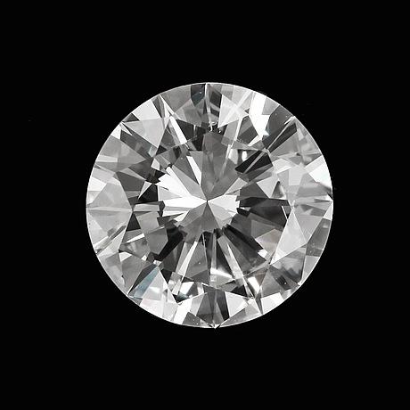 Briljantslipad diamant, oinfattad. vikt 0.78 ct.