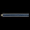 Armband, carréslipade blå safirer, 59 ct, samt ytterrad med briljantslipade diamanter, tot. ca 4 ct.