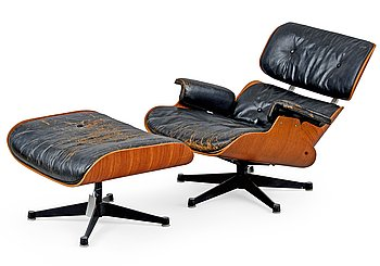 38. Charles & Ray Eames, LOUNGE CHAIR WITH OTTOMAN.