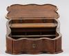 Skrivschatull, trä, nyrokoko, 1800-talets andra hälft.