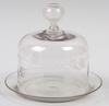Ostkupa med fat, glas, 1800/1900-tal.