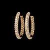ÖrhÄngen, 176 briljantslipade diamanter, tot. 3.29 ct.