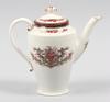 """Kaffekanna, porslin, """"messina"""", rörstrand, sekelskiftet 1900."""