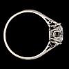 A brilliant cut diamond ring, 1.75 cts.