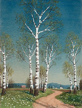 OSKAR BERGMAN, Early spring.
