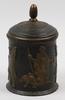 Tobaksburk, gjutjärn samt trä, dat 1793.