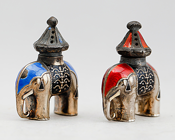 348322. SALTSTRÖARE,  1 par, silver, Norge.