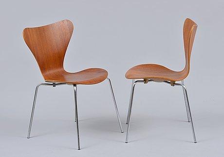 Arne jacobsen, stolar, 6 st
