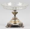 Bordsuppsats, glas, nysilver, nyrenässans, sent 1800-tal.