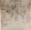 OkÄnd konstnÄr, akvarellerad skiss, sign och dat. strix, 1901.