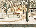 REINHOLD LJUNGGREN, Winter scene from Trosa...
