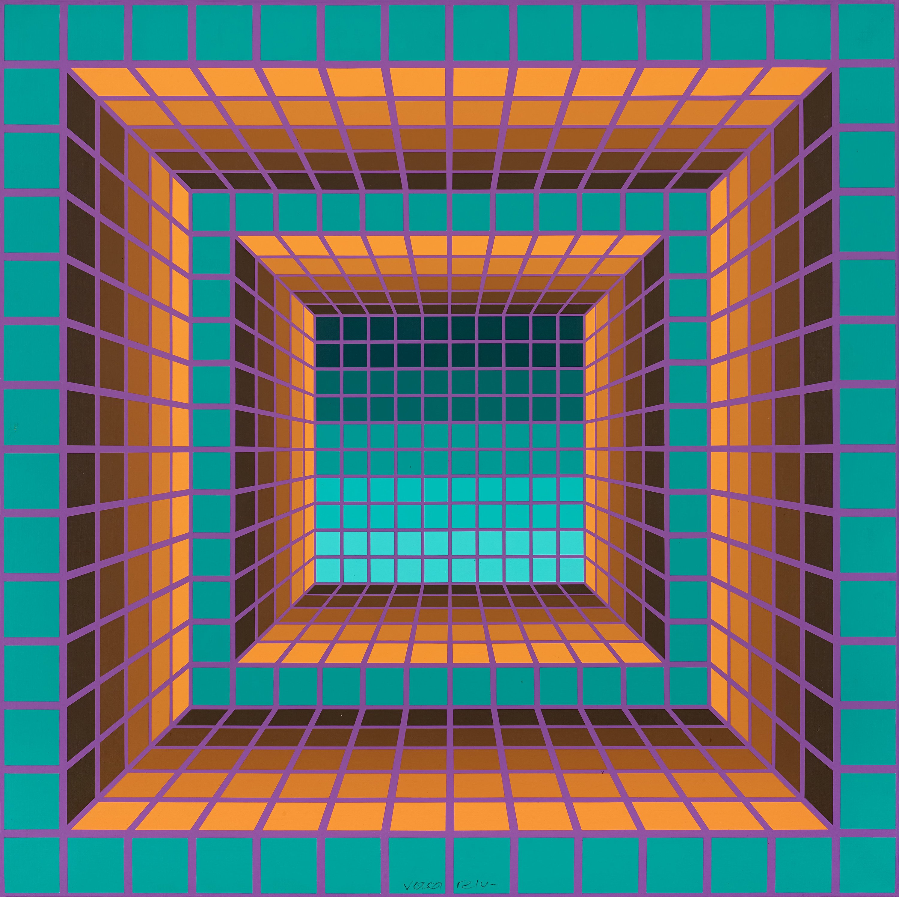How To Add Color Victor Vasarely Quot O4 Nn 2 Quot Bukowskis