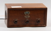 Radio, trä, luxor, jubileumskopia från 1993 av äldre modell.