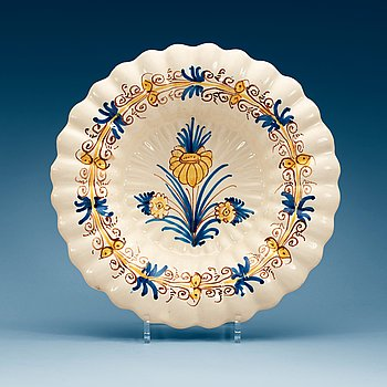 850. A Delft faience dish, 18th Century.