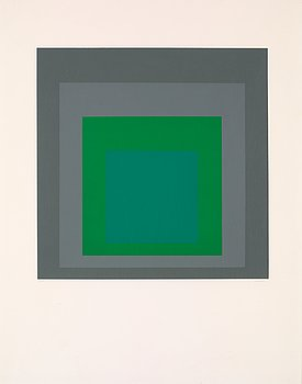 "1. Josef Albers, ""Hommage au carré""."