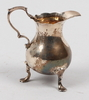 GrÄddkanna, silver, england, otydl stämplar, 1700/1800-tal.