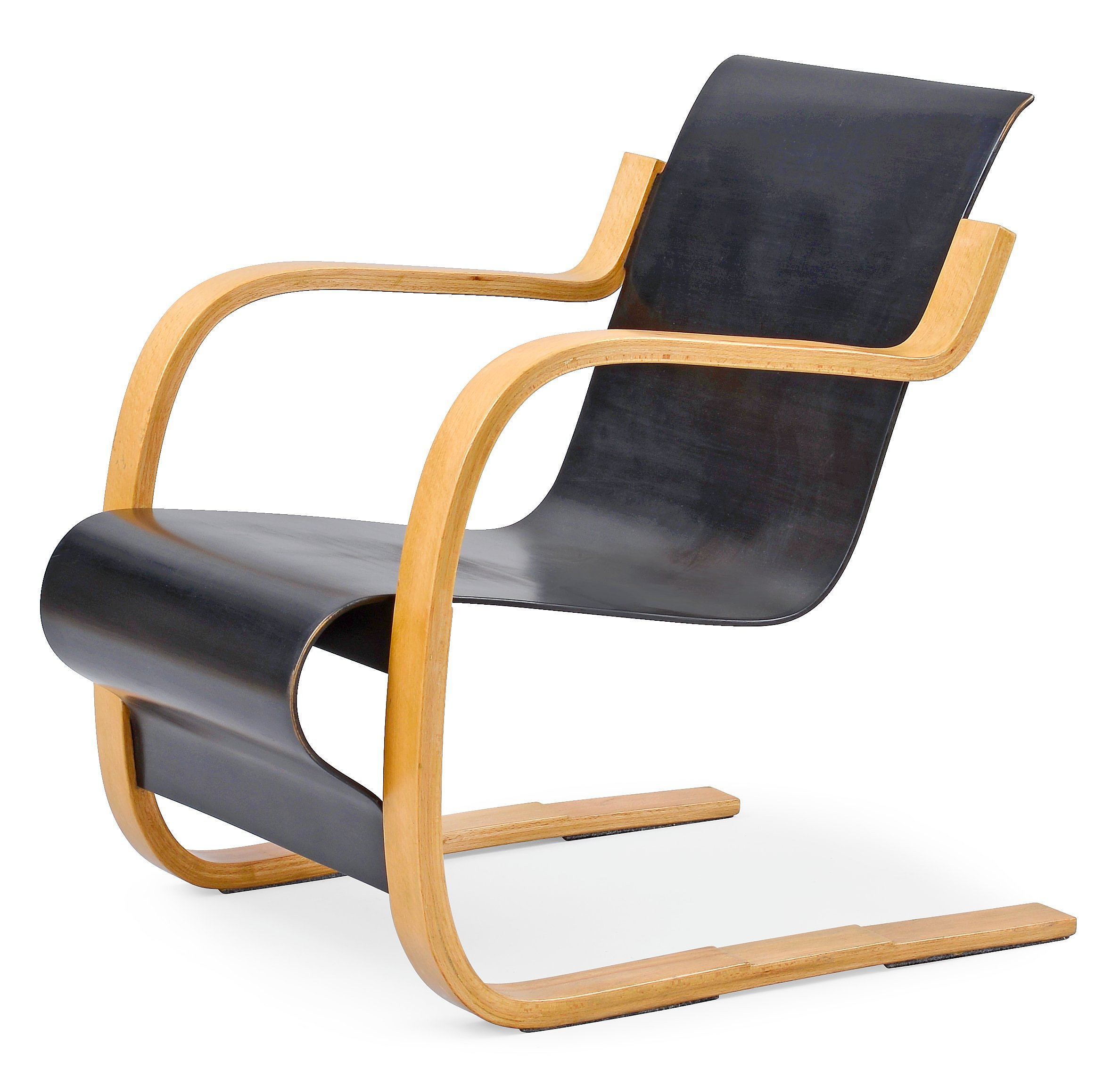 Alvar Aalto 1898 1976 Armchair Quot Paimio Quot Bent Armrests In Beech Wood Black Veneer Seat Design