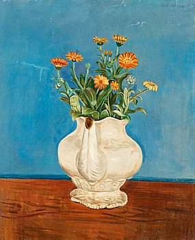 111. Axel Nilsson, Still life with flowers.