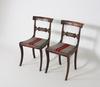 Stolar, ett par, senempire, 1800-talets första hälft.