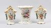 Parti vaser, 3 st, porslin, sent 1800-tal.