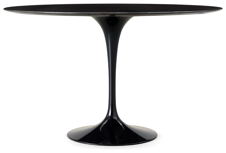 An Eero Saarinen Tulip Black Marble Top Table Knoll International - Black marble saarinen table