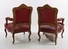 ArmlÄnstolar, ett par, samt stolar, 2 st. nyrokoko, 1800-talets senare hälft, troligen ryssland.