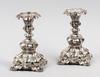 Ljusstakar, ett par, silver, nyrokokostil, 1950.