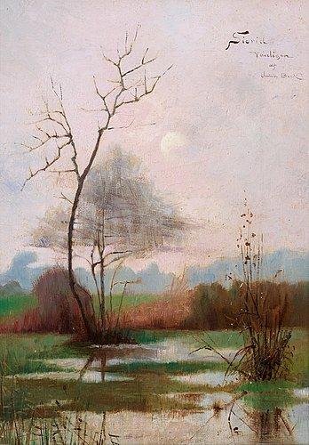 Julia beck, flodlandskap från montcourt.