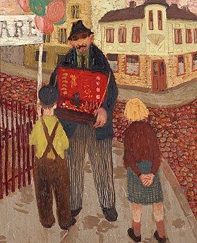 105. PELLE ÅBERG, Gatuförsäljaren.