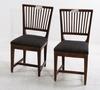 Stolar, ett par, allmoge, 1800-tal.