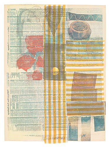 """Robert rauschenberg, """"one more and then we will be half way there"""", from: """"suite of nine prints""""."""