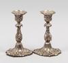 Ljusstakar, ett par. silver. möllenborg, stockholm 1854.