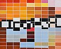 "SAM VANNI, ""HORISONTAL TILES I"". Sign. -75...."