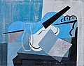 SAM VANNI, COMPOSITION IN BLUE. Sign. -78. ...