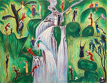 "152A. NILS VON DARDEL, ""The waterfall""."