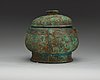 An archaic bronze food vessel, gui, presumably shang dynasty (c. 1600-1040 bc)/early zhou dynasty (1040-256 bc).