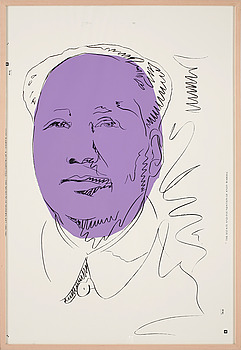 "270. Andy Warhol, ""Mao""."