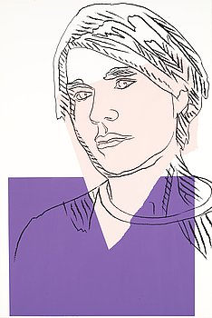 "266. Andy Warhol, ""Self-portrait""."