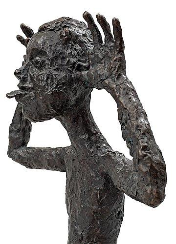 """Lena cronqvist, """"flicka som viftar på öronen och räcker ut tungan""""(girl wagging her ears and sticking out tongue)."""